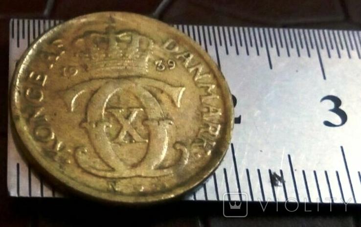 1/2 крона 1939  року Норвегіія копія ї не  магнітна, фото №2