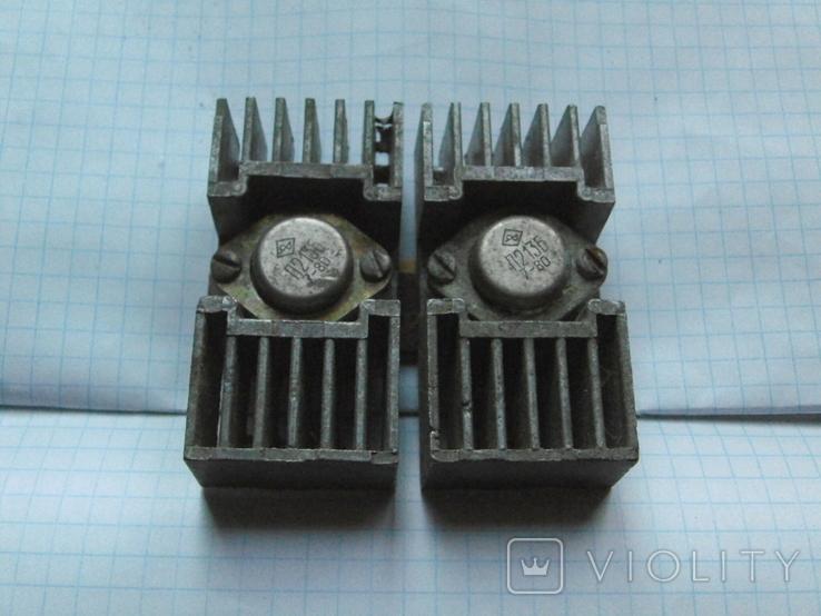 Радіатор з двома транзисторами., фото №3