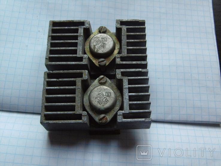Радіатор з двома транзисторами., фото №4