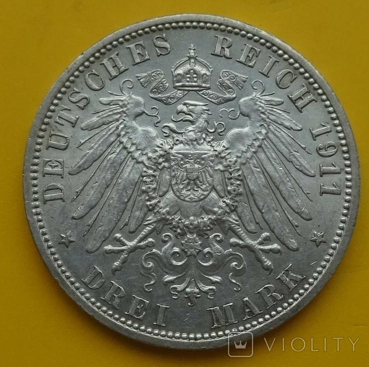 3 марки, 1911 год, Пруссия., фото №3