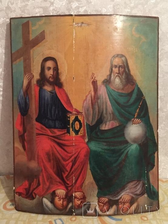 Икона Святая Троица 62*48, фото №2