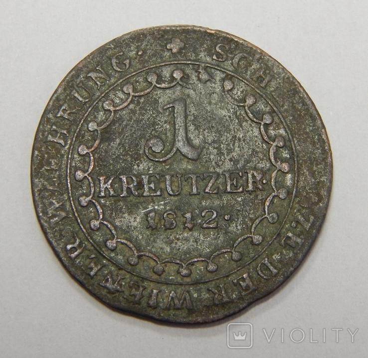 1 крейцер, 1812 Е Австрия, фото №2