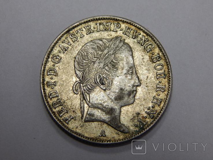 20 крейцеров, 1845 г Австрия, фото №3