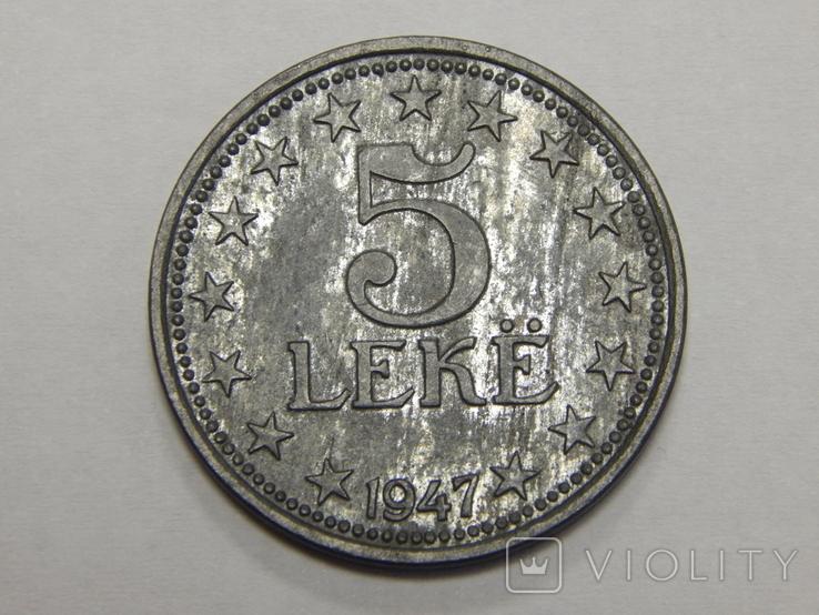 5 лек, 1947 г Албания, фото №2