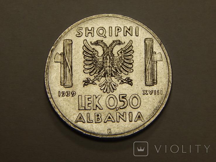 0,5 лека, 1939 г Албания, фото №2