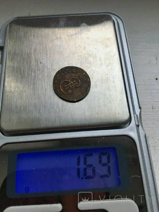 Сибирская монета Полушка 1781 КМ копия, фото №5