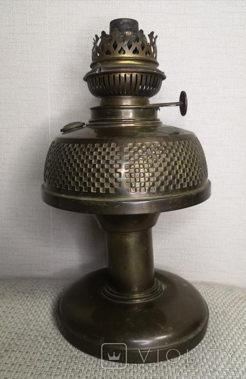 Латунна гасова лампа арт-деко, фото №2