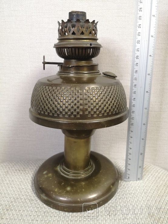 Латунна гасова лампа арт-деко, фото №10