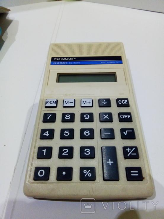 Калькуляторы Электроника Б3-23 в чехле и Sharp, фото №10