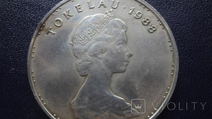 5 долларов 1988 Токелау Метание копья 27,5 г  серебро    (4.5.3), фото №5