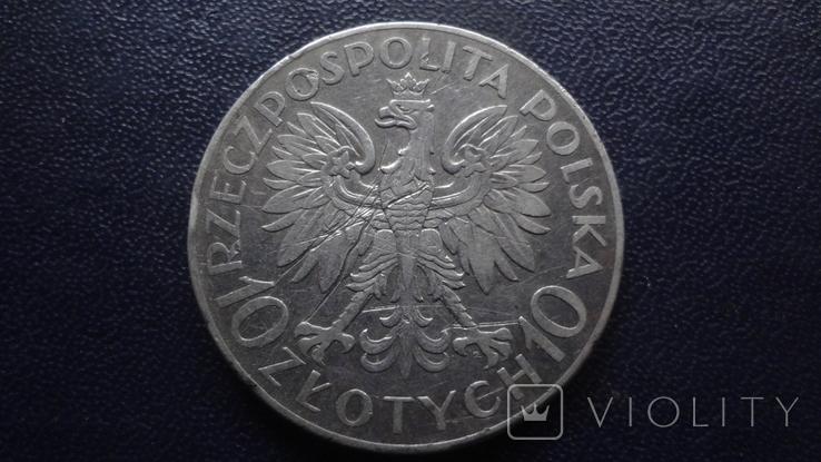 10  злотых 1933 Польша Ромуал Труагутт  серебро    (3.5.14), фото №4