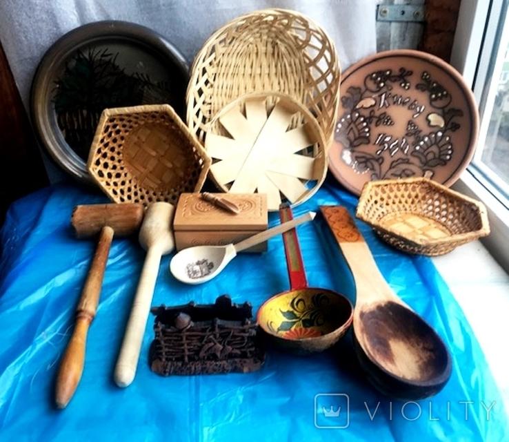кухоные принадлежности с дерева, фото №3
