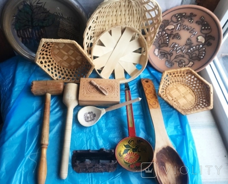 кухоные принадлежности с дерева, фото №4