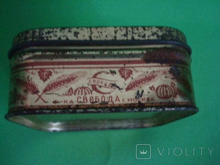 Коробка от зубного порошка ВДНХ жесть ф-ка Свобода, фото №5