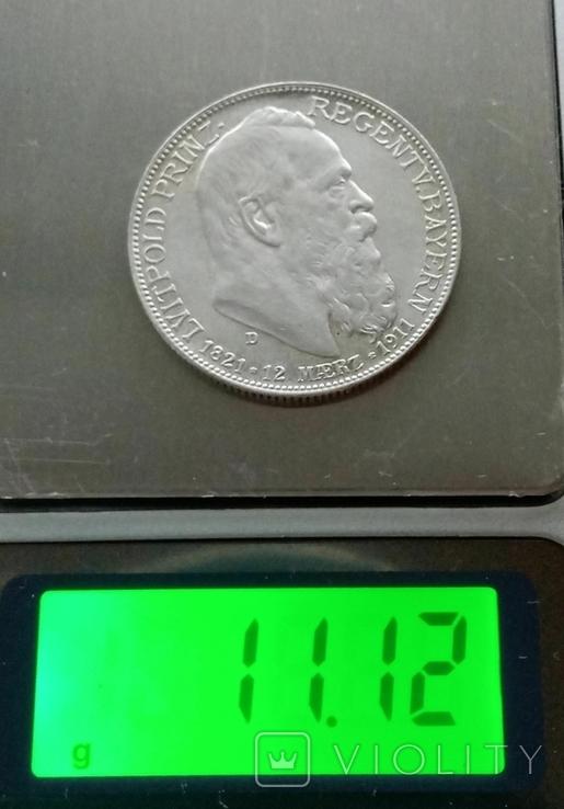 Бавария 2 марки 1911 года, фото №7