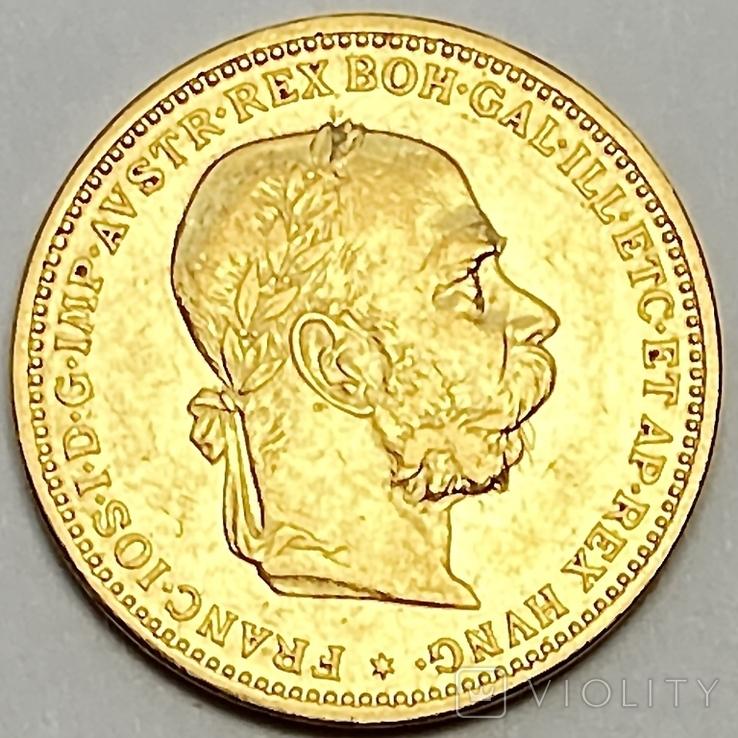 20 крон. 1903. Франц Иосиф I. Австро-Венгрия. (золото 900, вес 6,77 г)