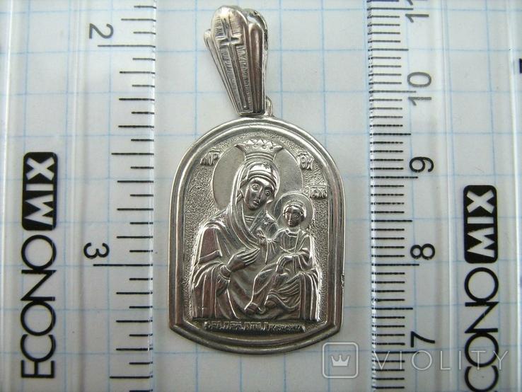 Серебряный Кулон Подвеска Образок Ладанка Богородица Иверская Серебро 925 проба 923, фото №5