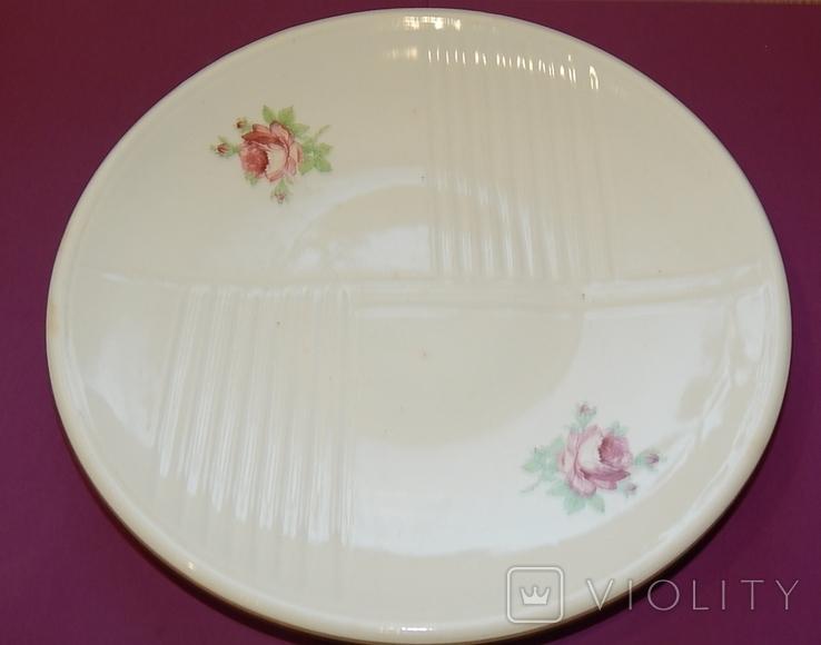Блюдо диаметр 24,5 Буды клеймо 67-1991г, фото №2