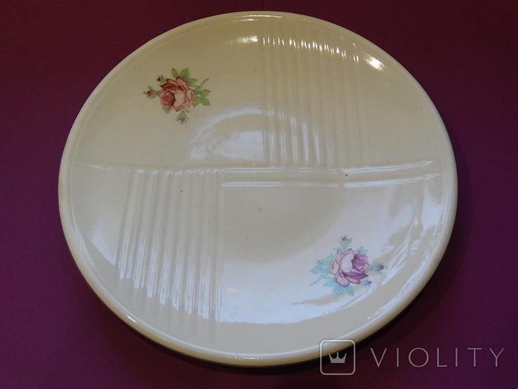 Блюдо диаметр 24,5 Буды клеймо 67-1991г, фото №6