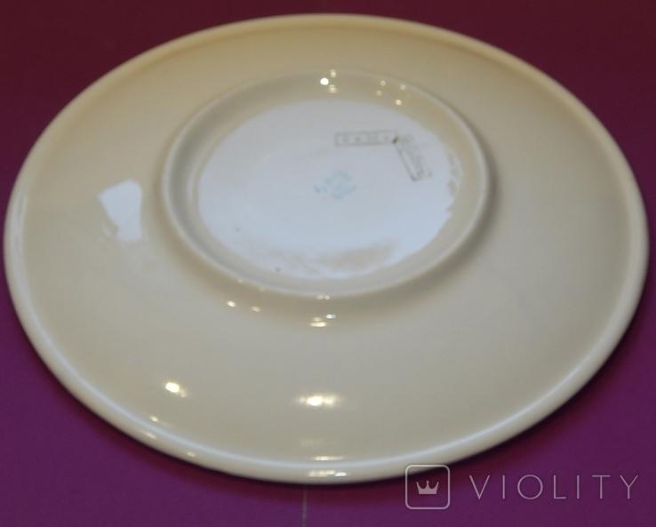 Блюдо диаметр 24,5 Буды клеймо 67-1991г, фото №9