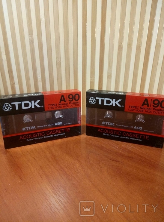 Аудиокассета TDK A-90 2шт., фото №2