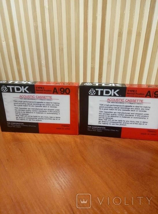 Аудиокассета TDK A-90 2шт., фото №4