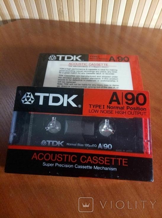 Аудиокассета TDK A-90 2шт., фото №5