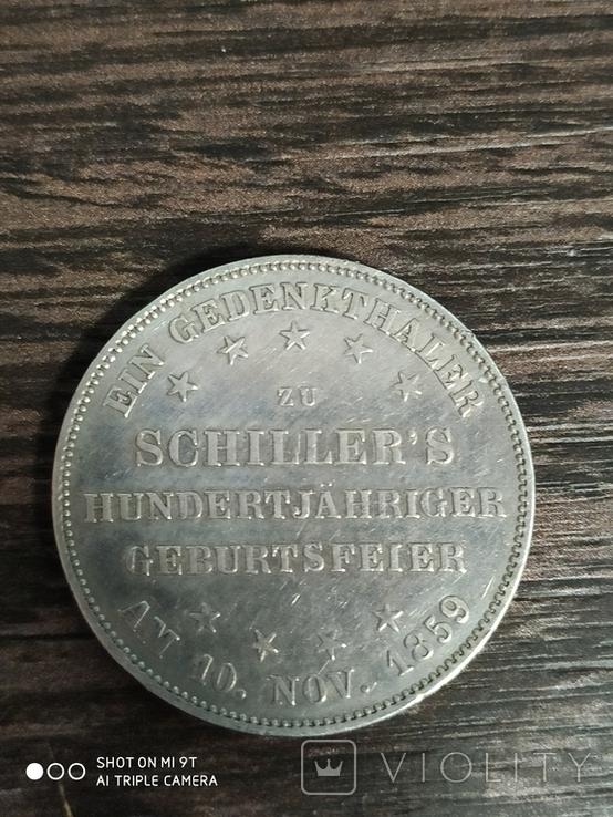 Талер Вольный Город Франкфурт 1859г., фото №2