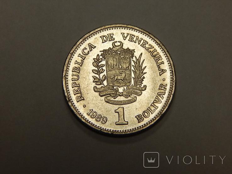 1 боливар, 1989 г Венесуэлла, фото №2