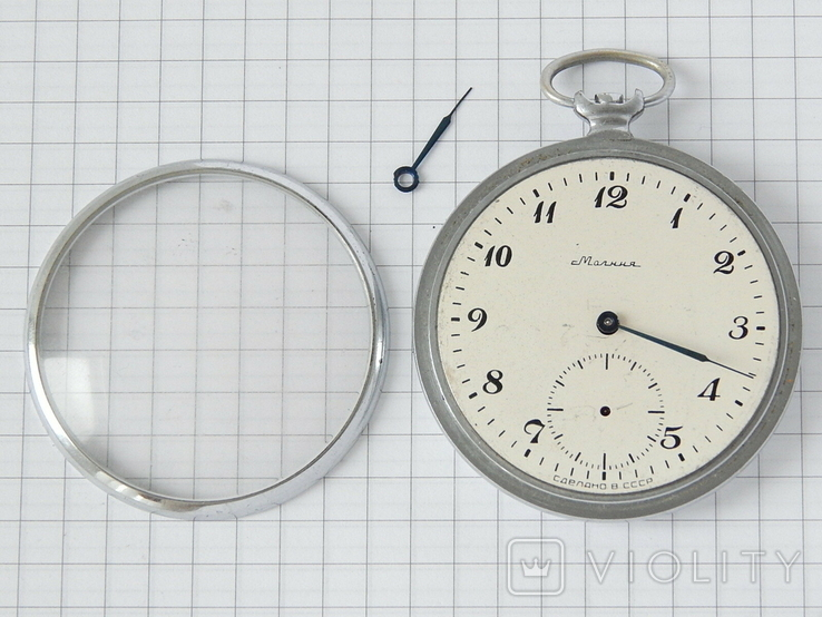 """Часы карманные """"Молния 3602"""" СССР (на ремонт)., фото №6"""