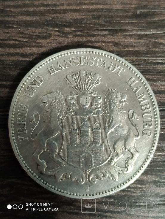 5 марок Германия Гамбург 1903 г., фото №2