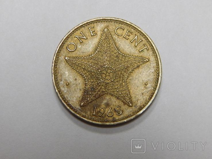 1 цент, 1968 г Багамы, фото №2