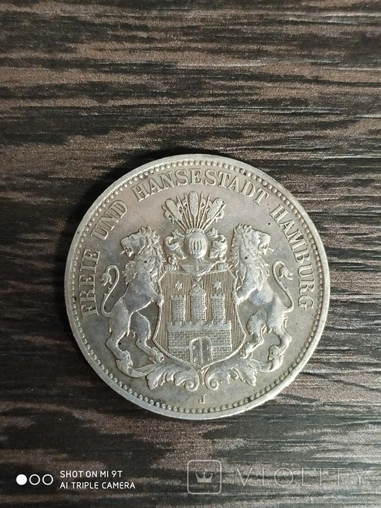 3 марки Германия Гамбург 1911г., фото №2