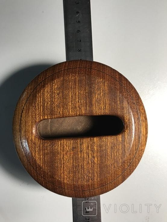 Круглая деревянная коробочка, фото №6