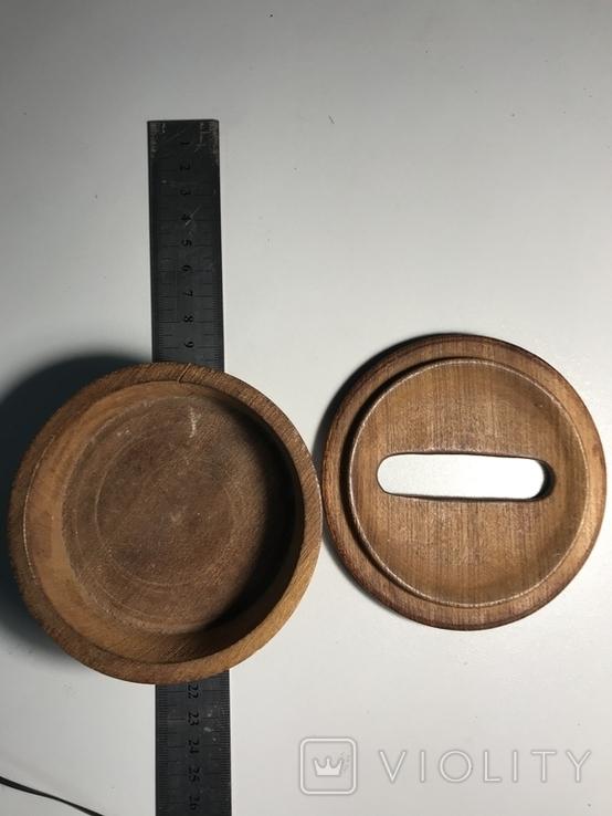 Круглая деревянная коробочка, фото №7