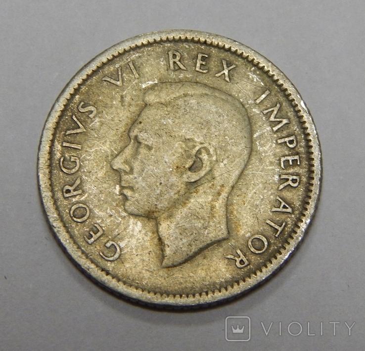 6 пенсов, 1940 г Южная Африка, фото №3