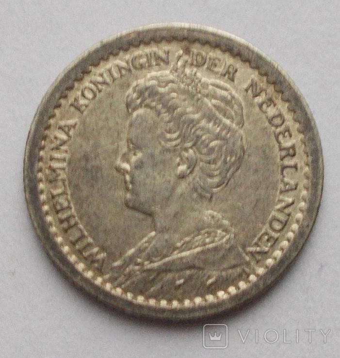 10 центов 1914 г. Нидерланды, фото №4