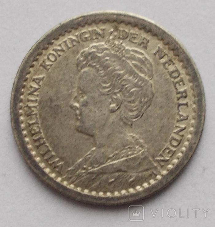 10 центов 1914 г. Нидерланды, фото №5