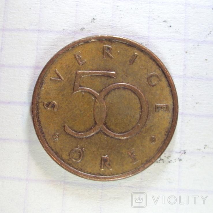 50 эре 1992 Швеция, D, фото №2