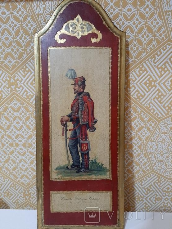 Итальянская армия (1859 г.) гусары Пьяченцы. Репродукция., фото №5