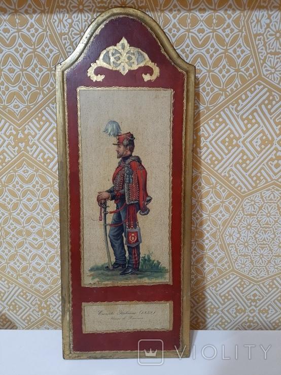 Итальянская армия (1859 г.) гусары Пьяченцы. Репродукция., фото №2
