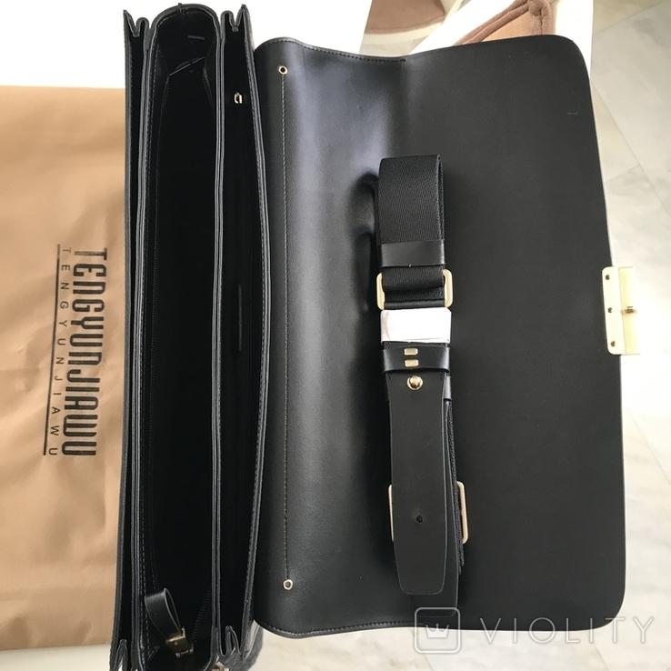 Портфель деловой кожаный, фото №6