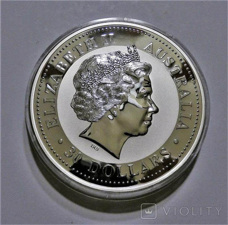 """1999 Австралия, серебро, 1 килограмм """"Год Кролика"""", фото №7"""