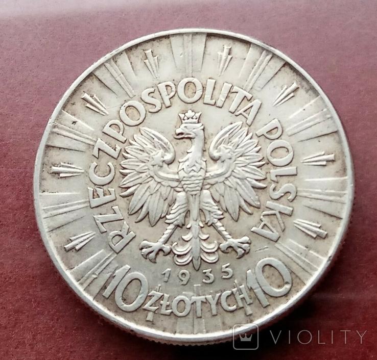 10 злотых 1935 года Пилсудский, фото №4