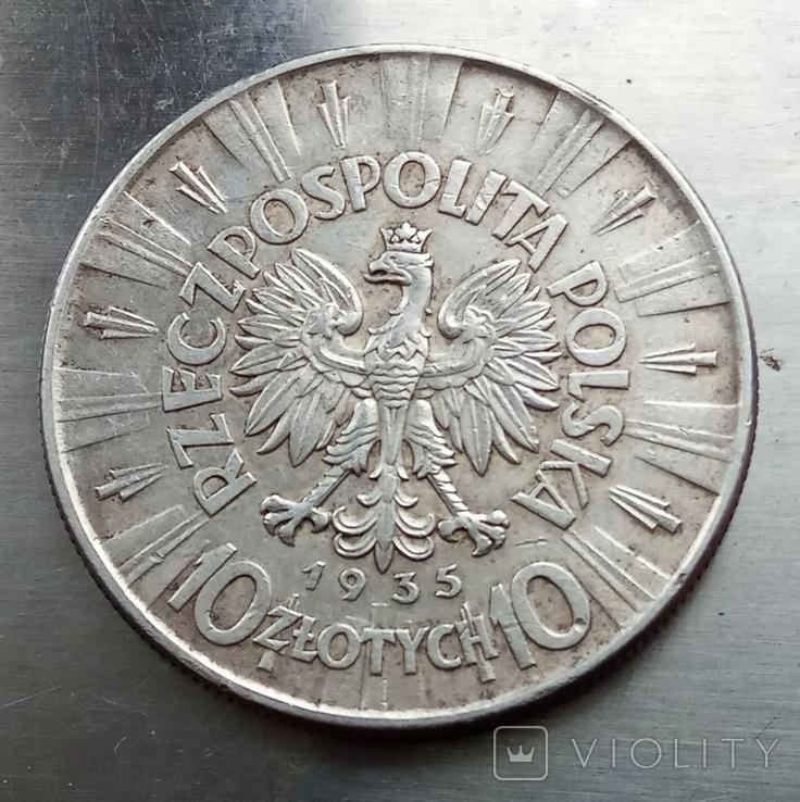 10 злотых 1935 года Пилсудский, фото №8