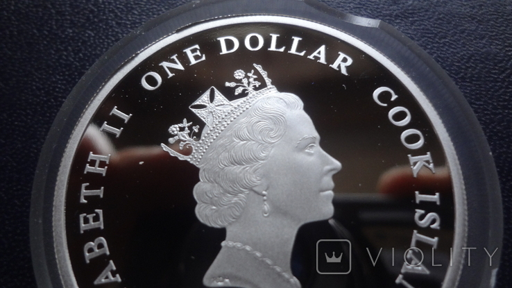 1 доллар 2008 о-ва Кука АН-74 унция серебро, фото №6