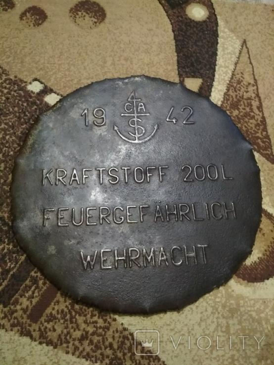 Крышка от немецкой бочки 1942 год.Рейх.Вермахт., фото №2