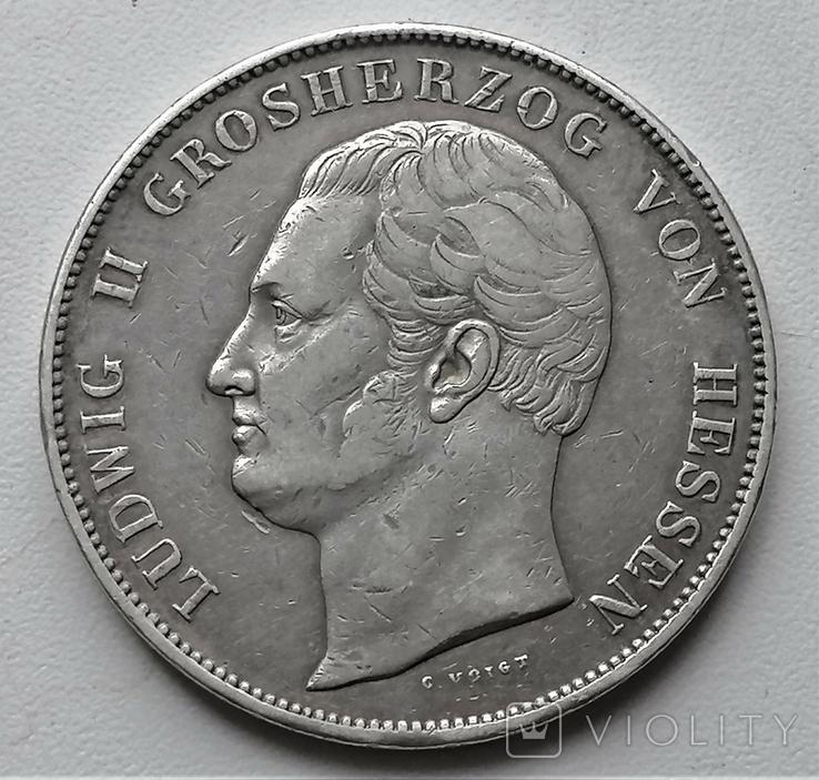 Коронний талер 1833 р. Гессен, Людвіг ІІ, фото №2