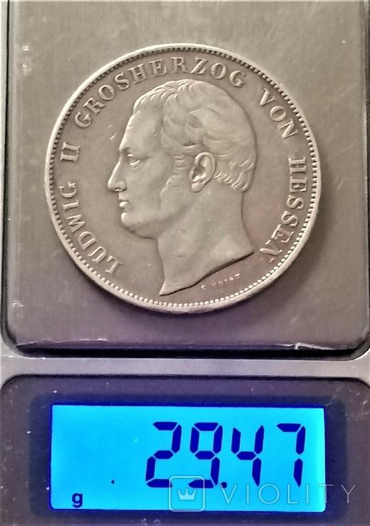Коронний талер 1833 р. Гессен, Людвіг ІІ, фото №10