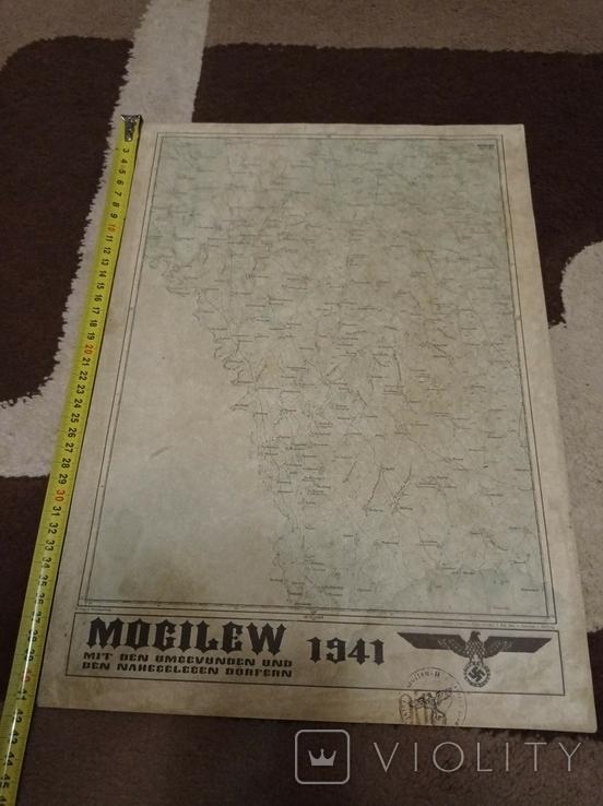 Копия немецкой карты  города  Могилев, фото №4
